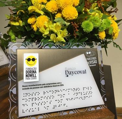 Banco Daycoval é homenageado pela Fundação Dorina Nowill