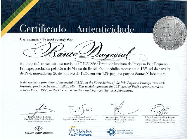 Banco recebe medalha pelo apoio ao Instituto de Pesquisa Pelé  Pequeno Príncipe